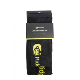 RidgeMonkey Ručník LX Hand Towel Set Black 2ks