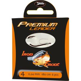 Iron Trout Návazec Premium Leader 220cm 0,18mm vel.10 10ks