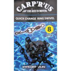 Carp´R´Us Quick Change Ring Swivel - size 8, 8pcs