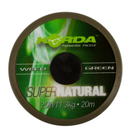 Korda - Šňůra Super Natural 25lb 20m Weedy Green