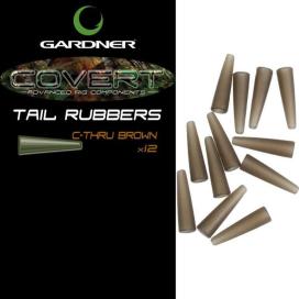 Gardner Převleky Covert Tail Rubbers|C-Thru Brown (průhledná  hnědá)