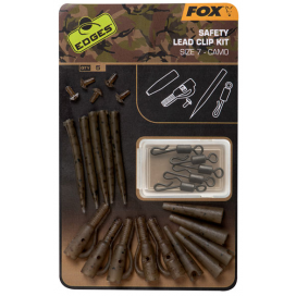 Fox Závěska edges Camo Safety Lead Clip Kit 7
