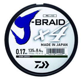 Daiwa pletená šňůra J-Braid X4 - Yellow