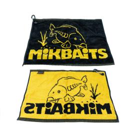 Mikbaits Propagační předměty -  ručník černo žlutý s karabinou