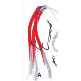 Ice Fish trubičky návazec háček 12/0 červená 2ks