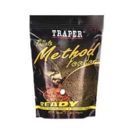 Traper Pelety Method Feeder Ready Halibut Černý 2mm 500g