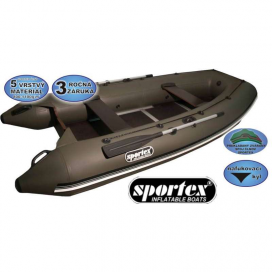 Sportex člun Shelf pevná podlaha se středovým kýlem 390cm šedý