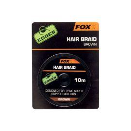 Fox Edges hair braid návazcová šňůrka 10m hnědá