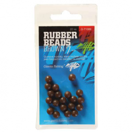 Giants Fishing Gumové kuličky Rubber Beads Transparent Brown 7mm,20ks