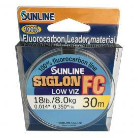 SUNLINE Fluorocarbon SIGLON FC 30m,0.350mm/18 Lbs