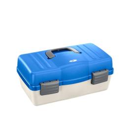 Plastica Panaro rybářský kufřík 136/ 4-patrový bílo-modrý