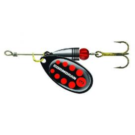 Třpytka Cormoran Bullet Longcast černo - červená tečka