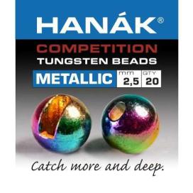 Hanák tungstenové hlavičky Metallic duhové 20ks