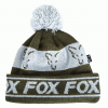 Fox čepice Green & Silver lined bobble