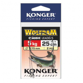 Konger Wolframové lanko 2ks 25cm/5kg
