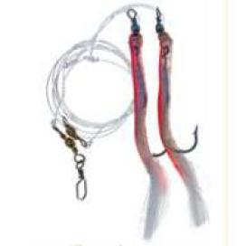 Papriky návazec MIX Ice Fish háček 12/0 červenostříbrná