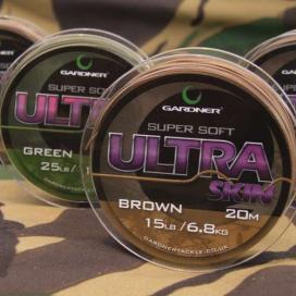 Gardner Splétaná šňůra Ultra Skin 20m|15lb( 6,8kg)/Brown( hnědá)