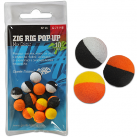 Giants Fishing Pěnové plovoucí boilie Zig Rig Pop-Up  mix colour 14mm,12ks