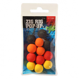 Giants Fishing Pěnové plovoucí boilie Zig Rig Pop-Up 10mm mix color,12ks