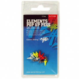 Giants Fishing Kolíček s očkem Elements Pop Up Pegs Mix Colour,12ks
