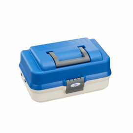 Plastica Panaro rybářský kufřík 143/ 2-patrový bílo-modrý