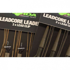 Korda Hotové montáže Leadcore leader Ring Swivels gravel/brown 3ks