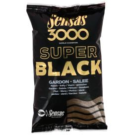 Sensas Krmení 3000 Dark Salty Gardons (plotice-černá-slaná) 1kg