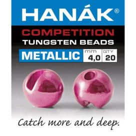 Hanák tungstenové hlavičky Metallic světle růžová 20ks 3,0mm