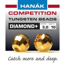 Hanák tungstenové hlavičky DIAMOND zlaté 20ks priemer: 4mm