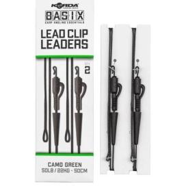 Korda Montáž Basix Lead Clip Leaders 2ks