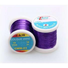 Hends kroužkovací drátek Color Wire 0,09mm 21,6m fialový