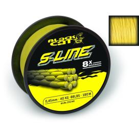 Black Cat Šnůra S-line svítivě žlutá 1m