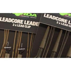 Korda Hotové montáže Leadcore leader Hybrid Lead Clip gravel/brown 3ks