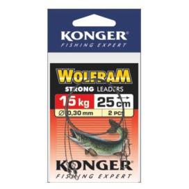 Konger Wolframové lanko 2ks 25cm/15kg