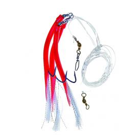 Ice Fish trubičky návazec A červená 8/0 160cm 2ks