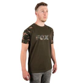 Fox Triko CamoKhaki Chest Print T-Shirt