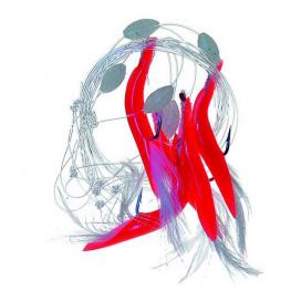 Jsa Fish červené trubičky 1 190cm 5ks