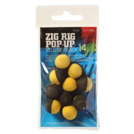 Giants Fishing Penové plávajúce boilie Zig Rig Pop-Up yelow-black 10mm, 10ks