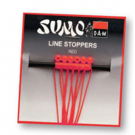Dam Sumo Line Stopper Red 0.4x4mm 6PCS