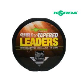 Korda odhozový ujímaný monofil SUBline Tapered Leaders