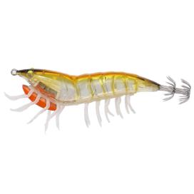 Savage Gear 3D Hybrid Shrimp EGI Jig Glitter Gold glow