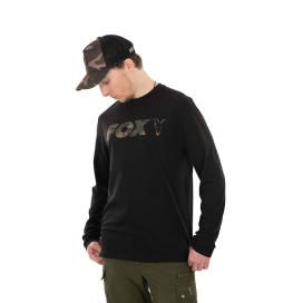 Fox Tričko Black Camo LS