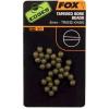 Fox Edges Tapered bore beads gumové korálky 4mm trans khki