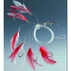 Návazec Cormoran na makrely červeno-bílý 04007