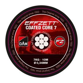 Dam Effzett Ocelové Lanko Coated Core7 Steeltrace Black 10m