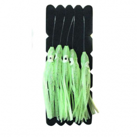 Návazec Mustad FTL25 80mm Squid Green Glow 5ks 3/0