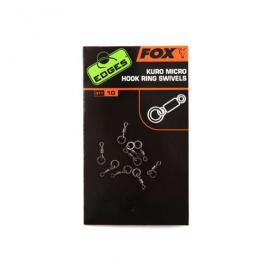 Fox Edges Kuro micro hook ring swivels obratlík na háček 10ks