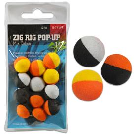 Giants Fishing Pěnové plovoucí boilie Zig Rig Pop-Up  mix colour 14mm,12ks