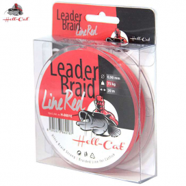 Hell-Cat Návazcová šňůra Leader Braid Line Red 0,90mm, 75kg, 20m