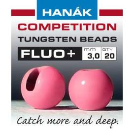 Hanák tungstenové hlavičky fluo růžová 20ks průměr: 2,5mm
